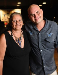 Literacy graduate Roland Bush with his mother Veronica